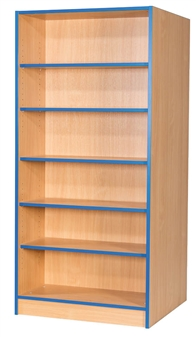 6ft Double Sided Flat Top Bookcase