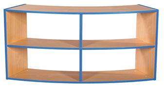 Two Tier Curved Open Back 2+2 Shelf Unit