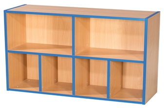 Two Tier 2+4 Shelf Unit