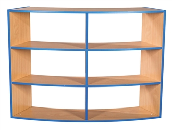 Three Tier Kubby - Curved Open Back