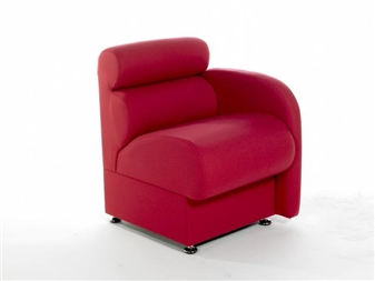 DOLFIN Modular Reception Sofa Seat - Left Arm