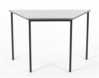 1100 x 550 Trapezoid Table With Grey Laminate Top