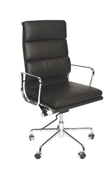 Charles Eames Style High Back Padded Executive Chair