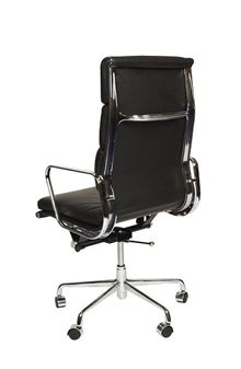Charles Eames Style High Back Padded Executive Chair - Rear View