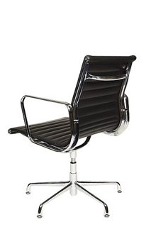Charles Eames Style Medium Back Ribbed Boardroom Chair - Rear View