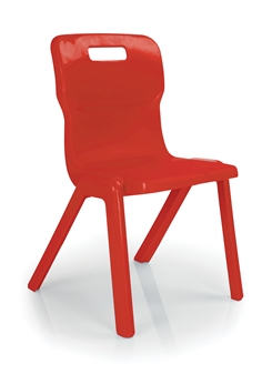 Titan One Piece Polypropylene Chair - Red