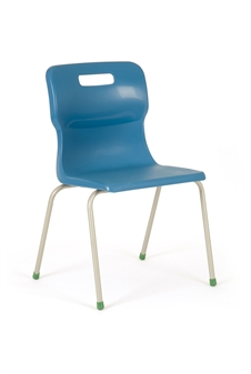 Titan 4-Leg Polypropylene Chair - Blue
