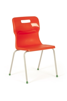 Titan 4-Leg Polypropylene Chair - Red