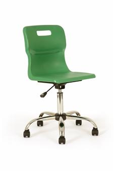 Titan Polypropylene Swivel Chair - Green