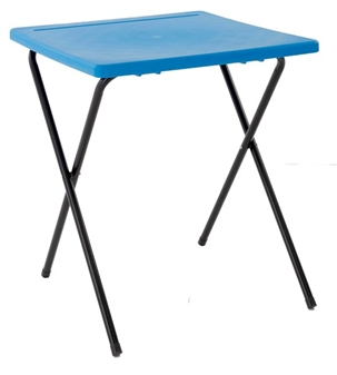 Polypropylene Folding Exam Desk - Blue