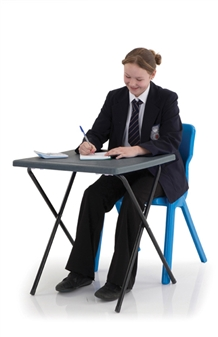Polypropylene Folding Exam Desk - Charcoal