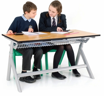 Double Height-Adjustable Classroom Table
