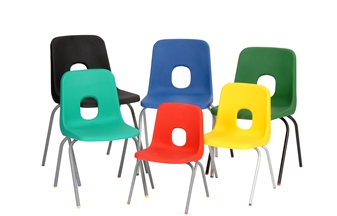 Hille E-Series Plastic Chairs - 6 Sizes