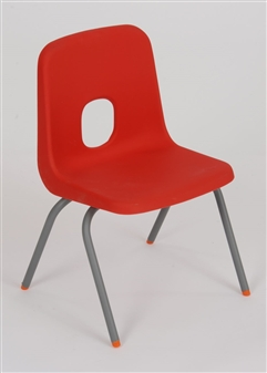 Hille E-Series Plastic Chair - Red