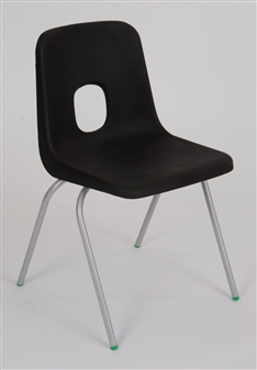 Hille E-Series Plastic Chair - Charcoal