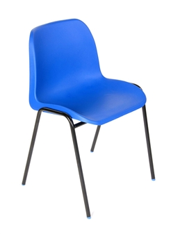 Hille Affinity Plastic Chair - Blue