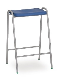 Hille Flat Top Stool Blue