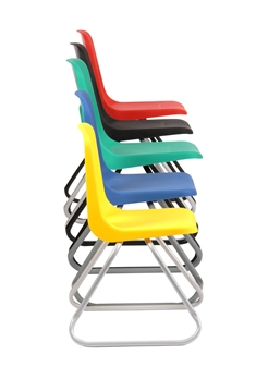 Hille E-Series Skid Base Chairs - 5 Sizes