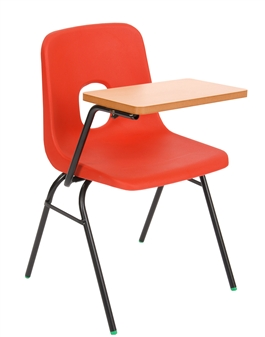 Hille E-Series Plastic Chair With Writing Tablet