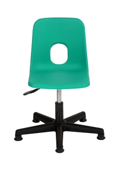 Hille Primary Height-Adjustable Swivel Chair With Glides