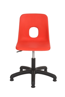 Hille Secondary Height-Adjustable Swivel Chair With Glides