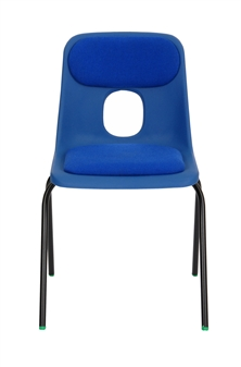 Hille E-Series Plastic Chair With Seat & Back Pad