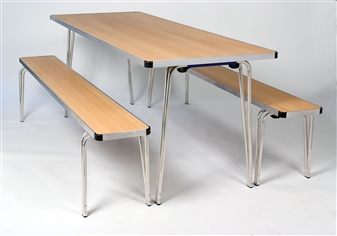 Contour Folding Table With Benches