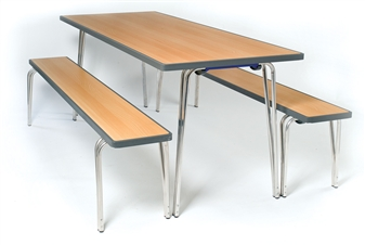 Premier Folding Table + Premier Stacking Benches