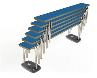Premier Stacking Benches With Bench Skates