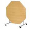 Octagonal Tilt Top Dining Table PU Edge