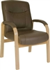Brown Leather Visitor Chair
