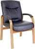 Black Leather Visitor Chair