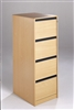 2, 3 & 4-Drawer Wooden Filing Cabinets - Strip Handles