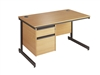 C-Frame Office Desk With 1 Set Of Drawers