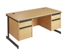 C-Frame Office Desk With 2 Sets Of Drawers