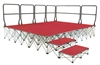 Ultralight Folding Staging Guard Rails