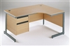 C-Frame Radial Desks With Fixed Drawers