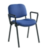 Set Of 4 Black Frame Chair With Arms