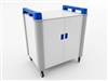 School Laptop Recharge Storage Trolley - Vertical - 16 Laptops