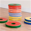 Set Of 12 Bi-Colour Donut Cushions