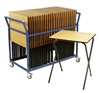 25 Folding Exam Tables + Trolley