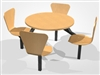Value Range Keeler 4 & 6-Seater Round Fast Food Resaurant / Canteen Unit