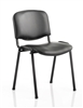 Black Vinyl Stacking Chair - Black Frame