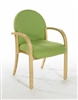 LENNOX Beech Wooden Conference/Meeting Room Armchair - Vinyl