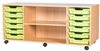 Premium 6 Tray & Shelf Storage Units