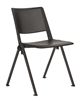 Pinnacle Black Stacking Chair