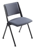 Pinnacle Black - Upholstered Stacking Chair