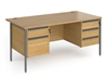 Budget Contract Office Desk With 2 Sets Of Drawers
