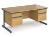 Contract C-Frame Office Desk With 2 Sets Of Drawers