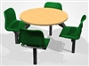 Value Range Economy 4 & 6-Seater Round Fast Food Restaurant / Canteen Unit